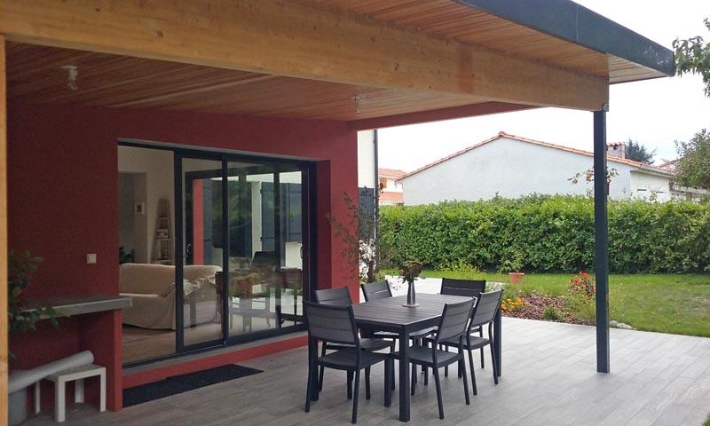 Assez Extension avec terrasse couverte et rénovation partielle de l  QH23